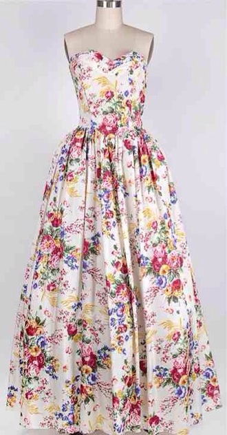 dress vintage dress ball gown prom dress formal dress floral dress