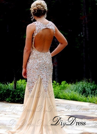 New arrival mermaid sexy backless chiffon with crystal beaded sweetheart neck sparkly prom dresses apd1266 · diydressonline · online store powered by storenvy