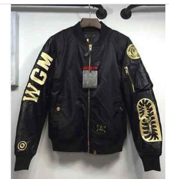 jacket a bathing ape bape bomber jacket gold shark gold flight jacket