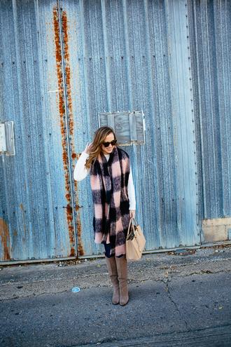 side smile style blogger bag sunglasses blanket scarf
