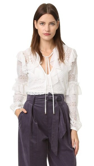 blouse lace white top
