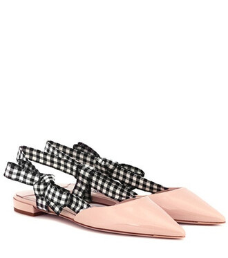 slippers leather pink shoes