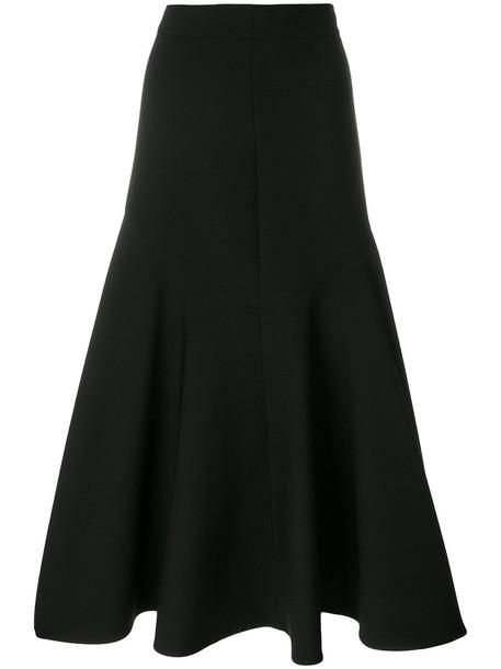 skirt midi skirt women midi spandex black silk wool