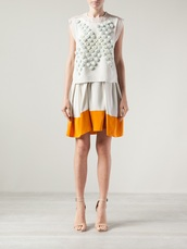 skirt,colour block,colour block skirt,umbrella skirt,3.1 phillip lim