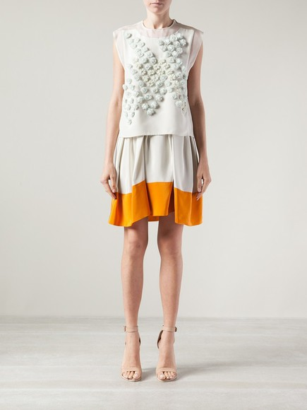 colour block skirt colour block skirt umbrella skirt 3.1 phillip lim