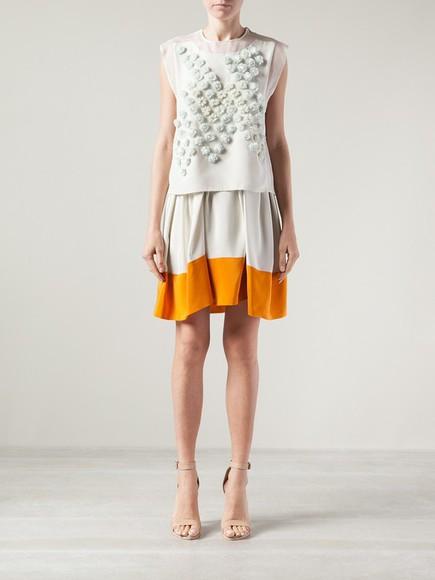 colour block skirt colour block skirt umbrella skirt 3.1 phillip lim
