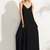 Black Spaghetti Strap Maxi Dress -SheIn(Sheinside)
