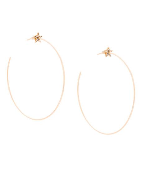 Diane Kordas women earrings hoop earrings gold yellow grey metallic jewels