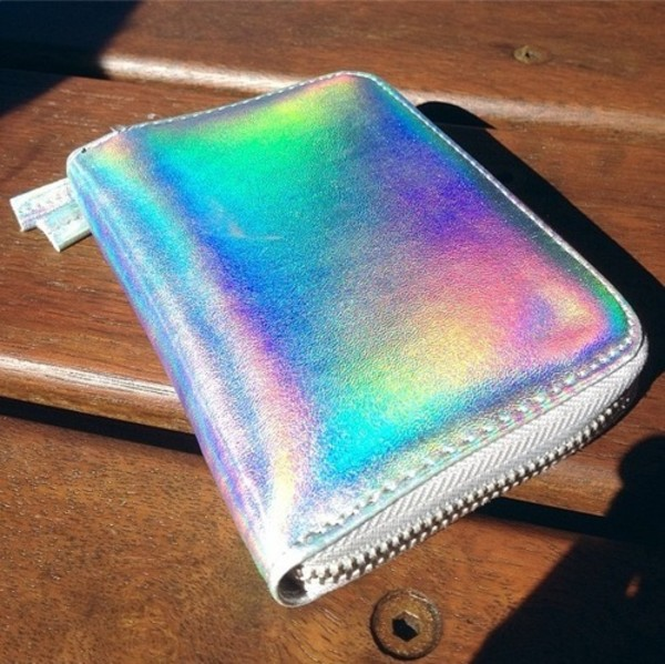 bag holographic purse wallet clutch tumblr tumblr