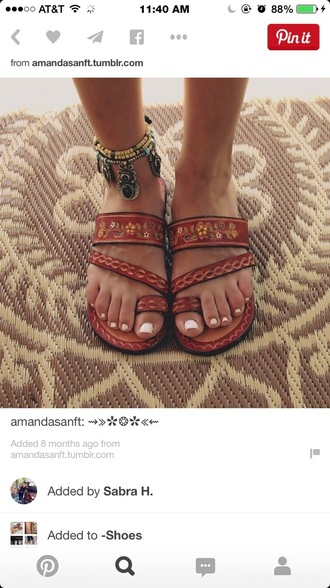 shoes boho sandals summer