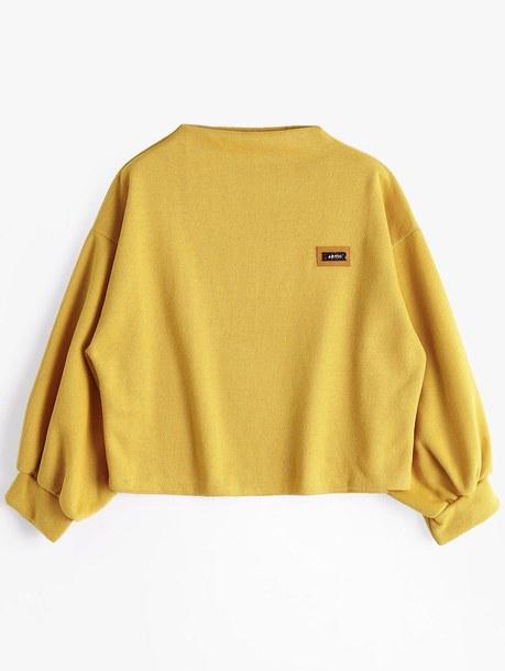 sweater yellow zaful