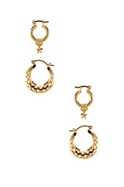 joolz by Martha Calvo Celestial Earring Set in gold / metallic