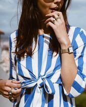 jewels,jewelry,ring,gold ring,gold jewelry,accessories,Accessory,watch,gold,gold watch,stripes,striped top