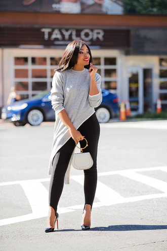 jadore-fashion blogger leggings sweater bag shoes