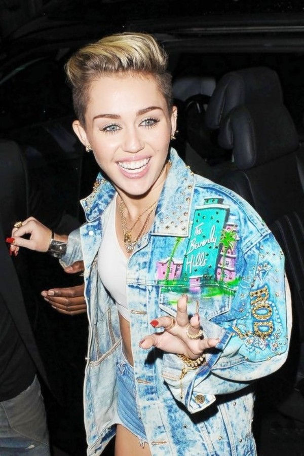 Jacket: blue, denim, miley cyrus, denim jacket, old school ...