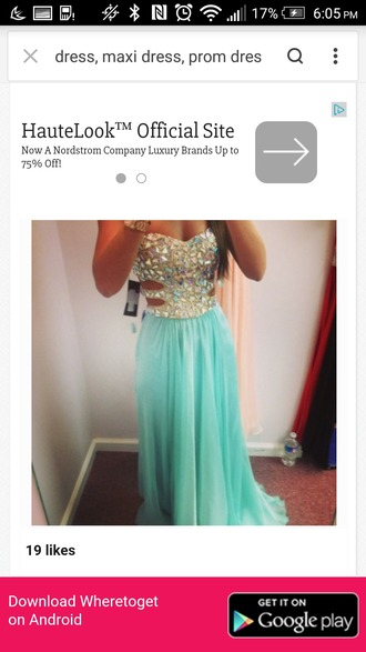 dress 2014 prom dresses high-low dresses teal dress long prom dress ball grown jewelled