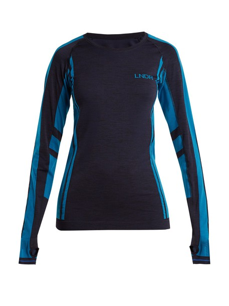 lndr t-shirt shirt t-shirt long navy top