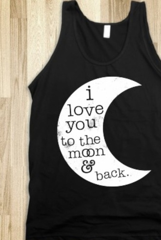 shirt i love you to the moon and back shirt black