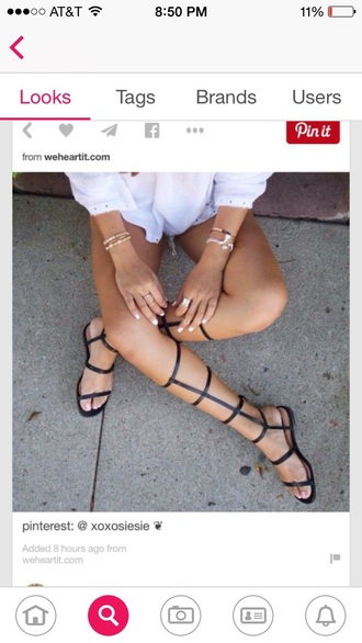 shoes cute sandals knee high gladiator sandals black sandals