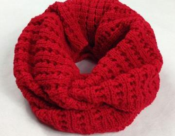 [grxjy540024]Simple Leisure Solid Color Warm Knit Infinity Scarf on Luulla