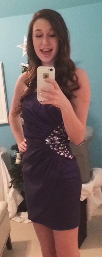 dress purple homecoming dress studs dressy girly tight strapless sexy