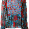See by chloé - multi floral blouse - women - silk/viscose - 38, blue, silk/viscose