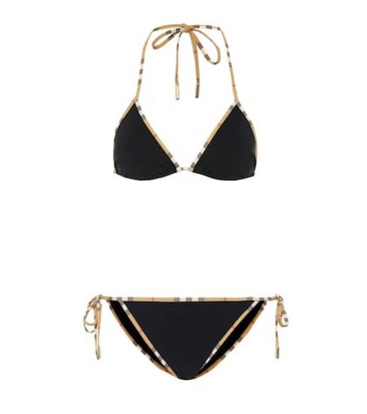Burberry Vintage Check triangle bikini in black