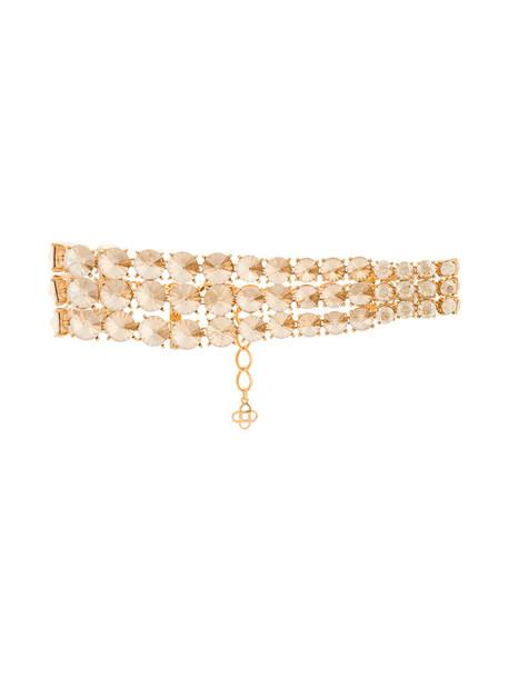 oscar de la renta women necklace choker necklace white jewels