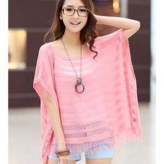 top pink oversized cute
