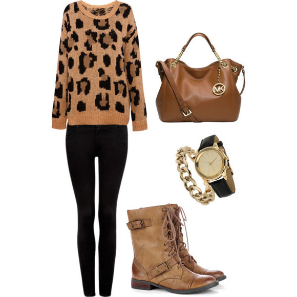 jewels urban outfitters shoes sweater leopard print mk bag