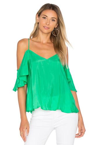 top ruffle green