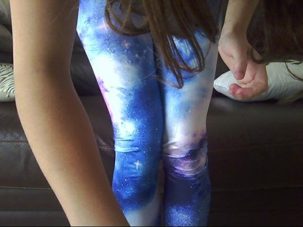 pants legging galaxy