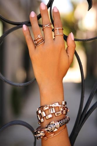 jewels ring bracelets nail polish