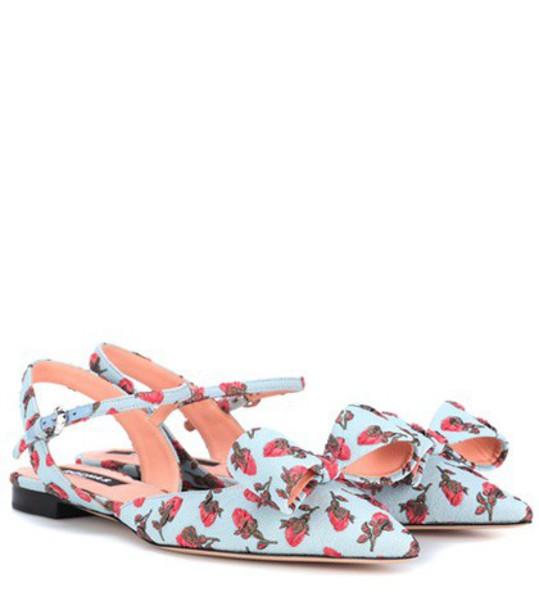 Rochas blue shoes