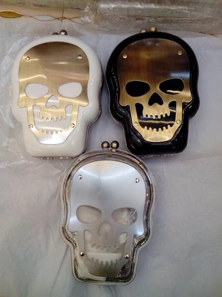 skull halloween bag skull bag wallet