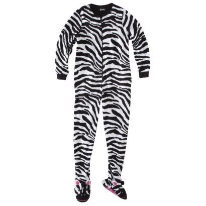 Nick & Nora® Women's Footie Pajama - Zebra : Target