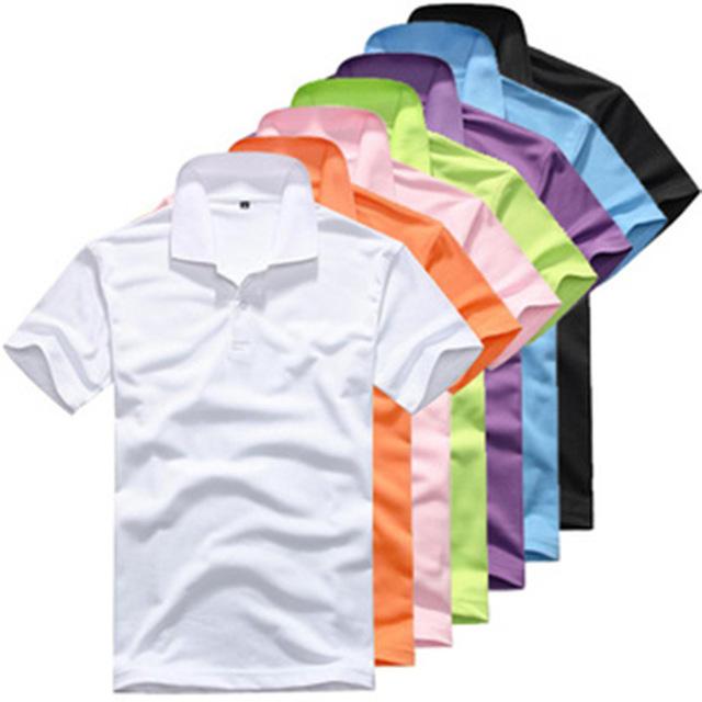 Buy diy mens polo shirt lapel men 39 s shirt for Neon colored t shirts wholesale