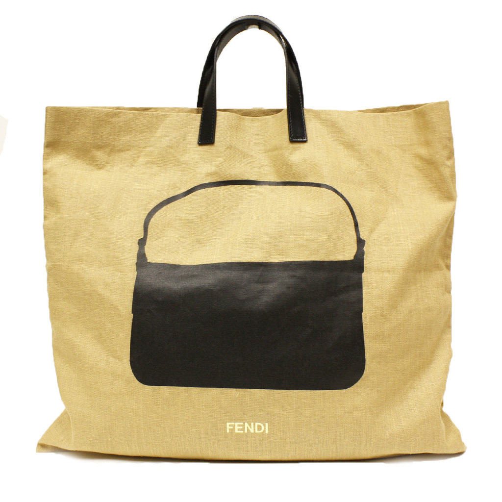 Linen Shopping Bag Black Leather | Case of the Fridays