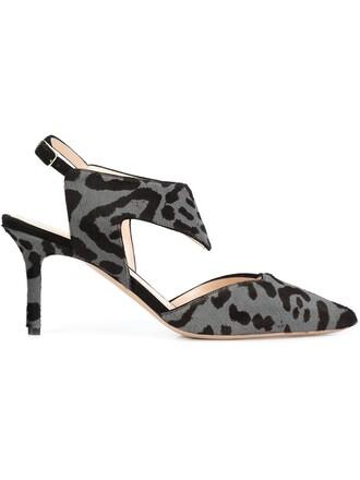 back animal pumps print animal print grey shoes