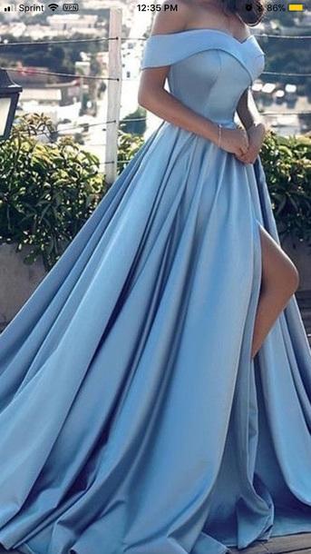 dress prom dress blue dress gown
