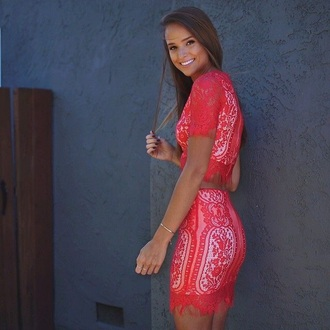 dress red lace dress red lace