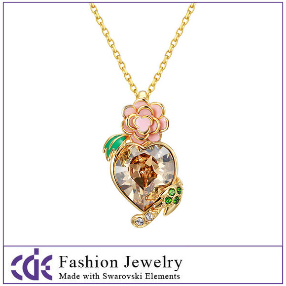 rose necklace jewels wome necklace crystal necklace pendant necklace
