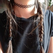 jewels,necklace,black,black necklace,choker necklace,90s grunge