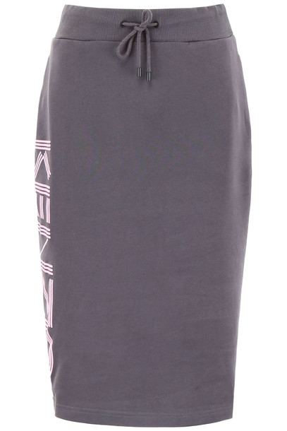 Kenzo Logo Joggers Skirt in anthracite