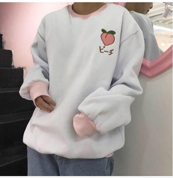 sweater girly sweatshirt jumper tumblr pink