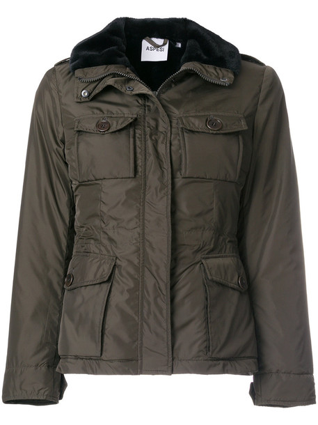 ASPESI jacket fur women green