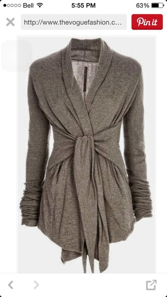 cardigan wrap grey sweater