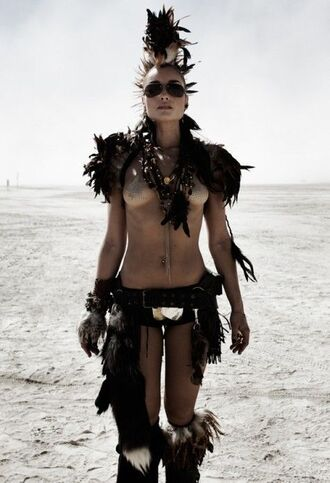 hair accessory burning man burning man costume black panties panties feathers sunglasses aviator sunglasses festival costume music festival