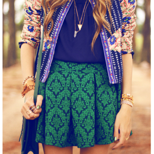 fashion coolture skirt coat jewels sweater shoes