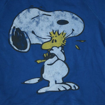 Vintage 70s Snoopy Peanuts  Grunge Jumper Sweater/ Friends are always there/ Snoopy JUMPER/ Vintage Snoopy Sweater on Wanelo